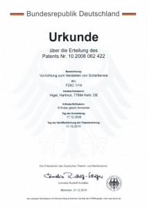 Urkunde DE-PS